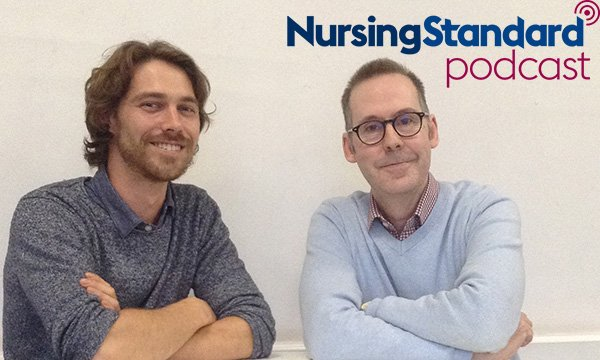 Picture shows Shawn McLaren (left) with RCNi senior nurse editor Richard Hatchett