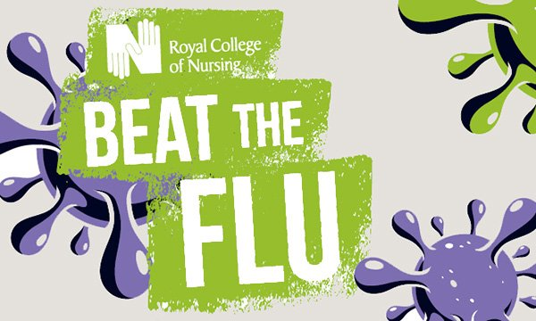 Picture shows section of RCN Beat the Flu poster
