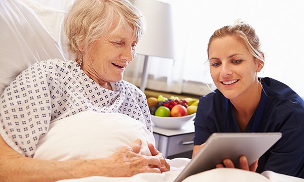 Using virtual care interventions to provide person-centred care to hospitalised older people with dementia