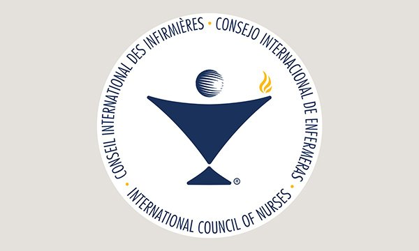 Logo of the International Council of Nurses, which the RCN has voted to rejoin