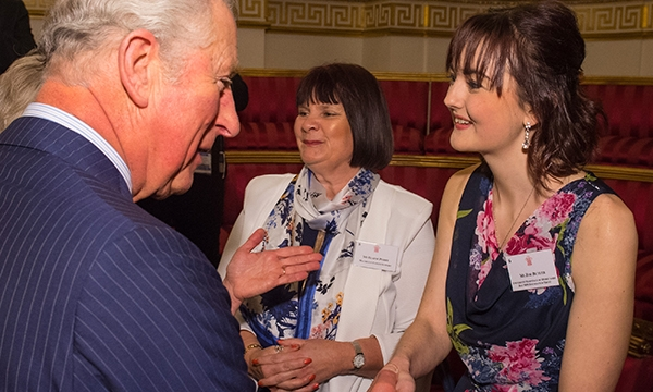 Zoe Butler with Prince Charles
