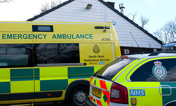North West Ambulance Service ambulance