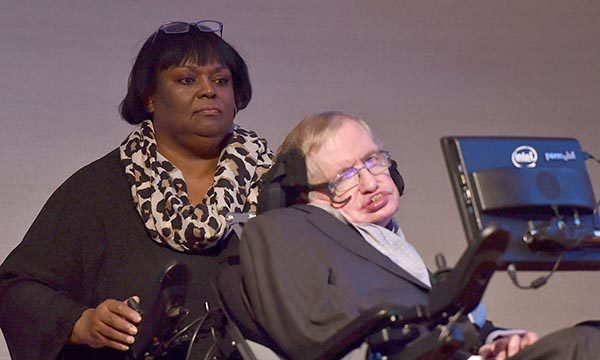 Patricia Dowdy with Stephen Hawking