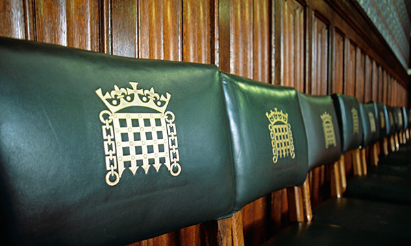 Chairs with parliamentary logo on them