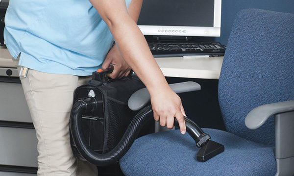 Vacuuming office space